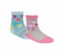Girl's Infant/Toddler Gripper Crew Sock