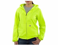 Women's Color Enhanced Zip-Front Hooded Sweatshirt