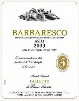 Bruno Giacosa Asili Barbaresco 2009