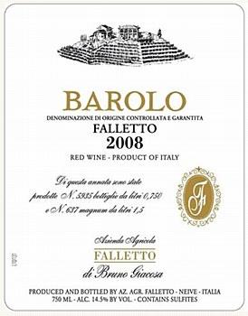 Bruno Giacosa Falletto Barolo 2008