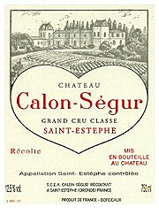 Chateau Calon-Segur Grand Cru Classe Saint-Estephe 2000 (750 ml)