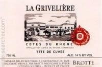 Brotte Le Griveliere Cotes du Rhone 2018