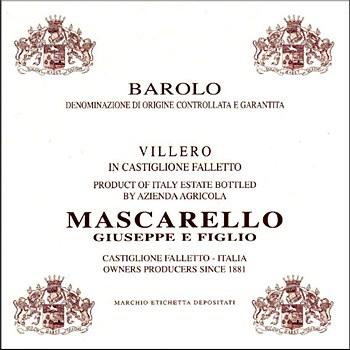 Mascarello Giuseppe Villero Barolo 2012