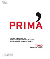 Bodegas Y Vinedos Maurodos Prima Toro 2012