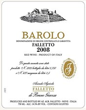 Bruno Giacosa Falletto Barolo 2008