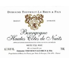 Thevenot Le Brun Bourgogne Hautes Cotes de Nuits 2018