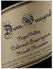 Dunn Vineyards Howell Mountain Cabernet Sauvignon 2012