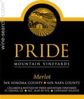 Pride Mountain Vineyards Merlot 2014 750 ml