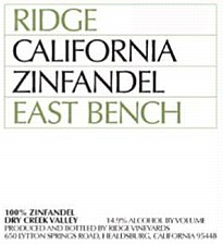 Ridge East Bench Zinfandel 2017 (750 ml)
