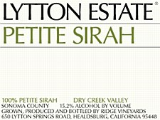 Ridge Lytton Estate Petite Syrah 2014 (750 ml)