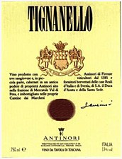 Antinori Tignanello 2015 (750 ml)