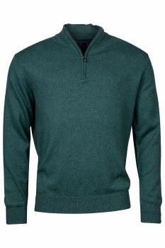 Baileys Cotton/Wool Mix Quarter Zip 3XL Green-552