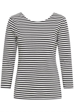 Part Two Tomiko Stripe Scoop Top XS Black
