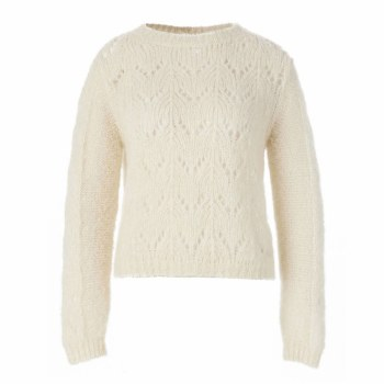 Riverwoods Short Lace Jumper L Off White