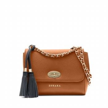 Zohara Tide Shoulder Bag Tan