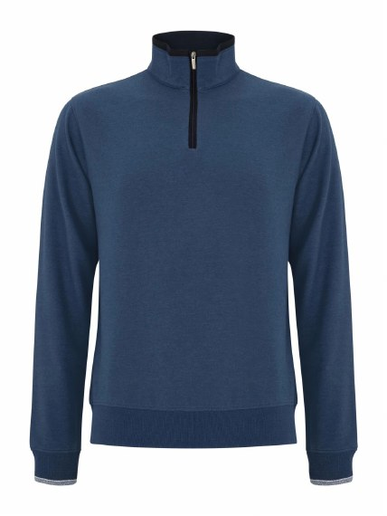 Benetti Leeds 1/4Zip Sweatshirt XL Smoke Blue
