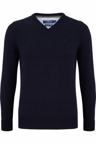 Benetti V Neck Jumper 3XL Navy