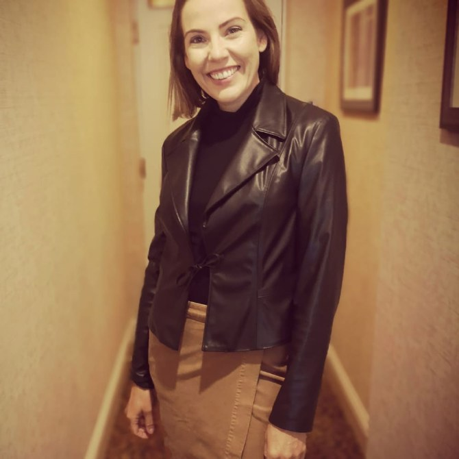 Bianca Leather Look Jacket 10 Black