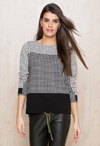 Bianca Geo Black & White Jumper 16