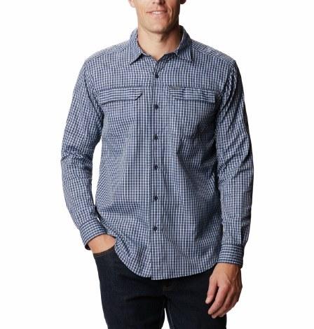 Columbia Silver Ridge 2.0 Plaid Shirt S Bluestone