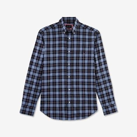 Eden Park Check Shirt L Navy
