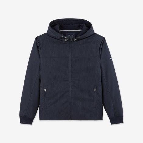 Eden Park Hooded Jacket M Navy