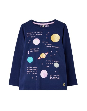 Joules Penlow Planet Top 4 yr Navy