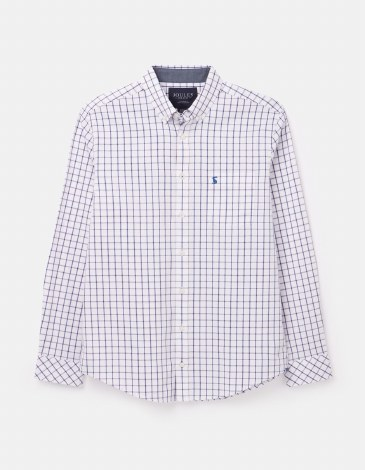 Joules Welford Classic Shirt L White Pink Check