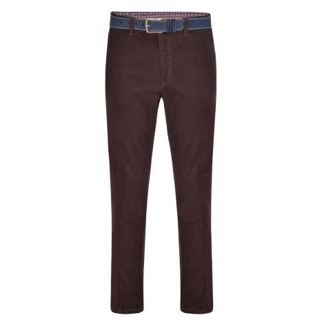 Magee Dungloe Washed Needlecord 32S Burgundy