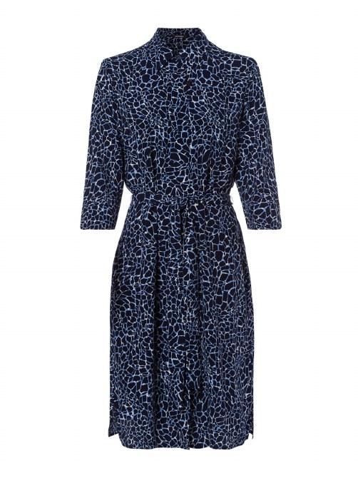 Olsen Print Shirt Dress 18 Ink Blue
