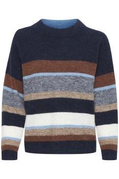 Part Two Ebru Mix Stripe Knit M Blue