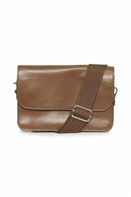 Part Two Evika Leather Handbag Chocolate Glaze