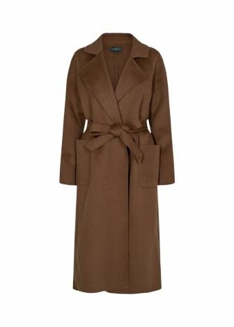 Soya Concept Wool Coat L Cognac