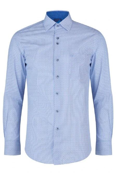 BEN Wyatt Long Sleeved Shirt Triangle Print