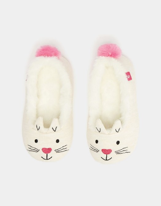 Joules Dreama Cat Slippers