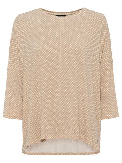 Olsen Relaxed Weave Print Top