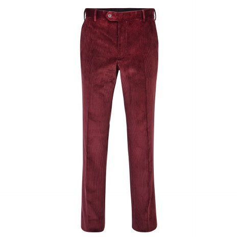 Magee Classic Cord Trousers 38R Burgundy
