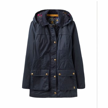 Joules Daubenay Faux Wax Jacket with Hood 12
