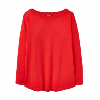 Joules Kerry Slash Neck Jumper 8 Red