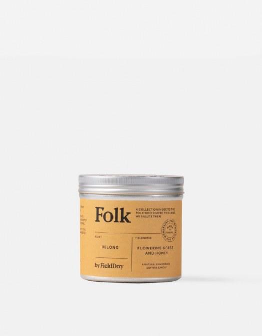 Field Day Folk Tin Candle Belong