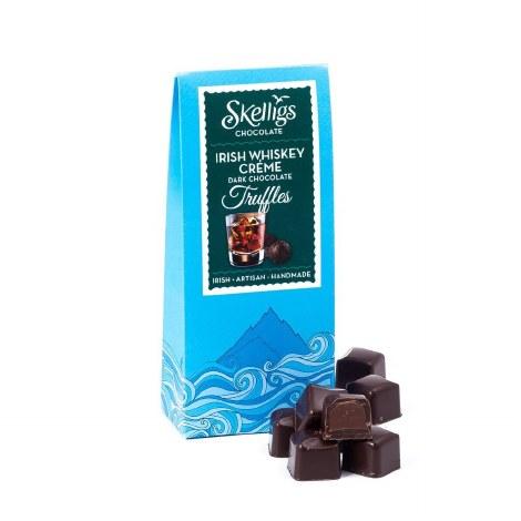 Skelligs Irish Whiskey Creme Dark Chocolate Truffles