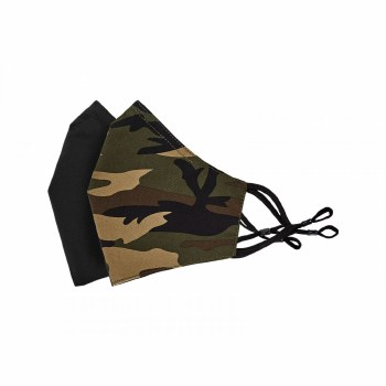 Tilley Face Cover 2 pack Black / Camo