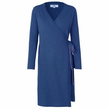 Noa Noa Knit Wrap Dress XL Blueprint