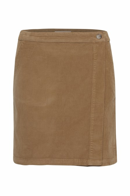 Part Two Talya Cord Skirt 10 Tobacco