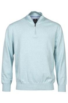 Baileys Cotton Quarter Zip Jumper M Turquoise