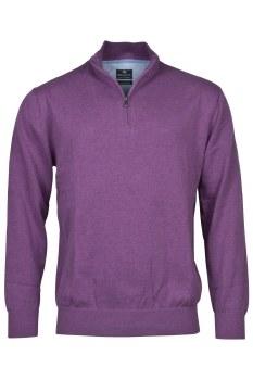 Baileys Cotton Quarter Zip Jumper M Purple