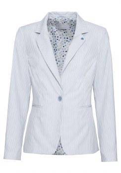 Bianca Stripe Jacket T1 White/Blue