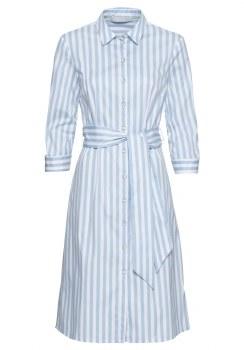 Bianca Stripe Shirt Dress 18 Blue White