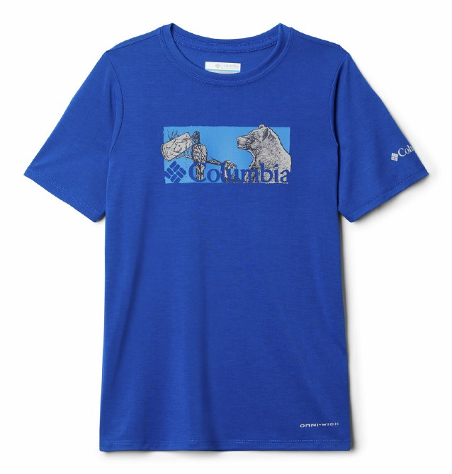 Columbia Boys Ranco Lake T Shirt XXS Azul