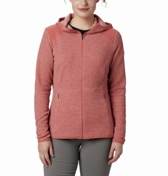 Columbia Coggin Peak Hooded Fleece M Dark Coral